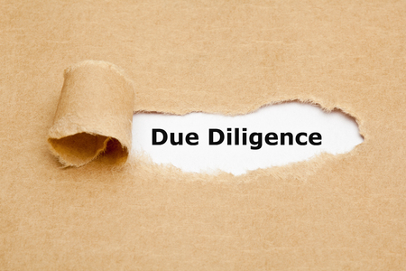 Due Diligence Risk Management Ripped Paper Concept Banco de Imagens - 121340204