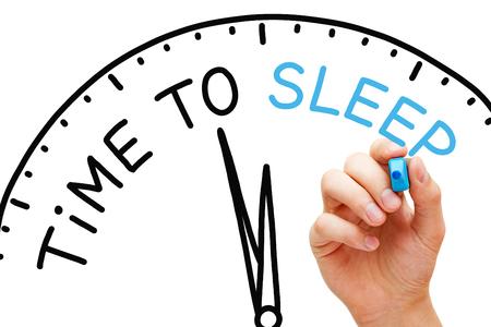 Time To Sleep Clock Concept Banco de Imagens - 121340215