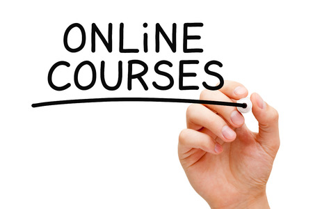 Online Courses Handwritten With Black Marker