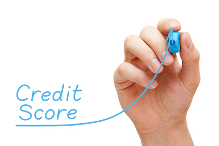 Increasing Credit Score Graph Concept