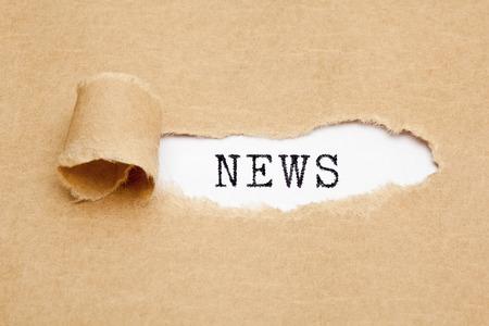 News Torn Paper Concept Banco de Imagens - 121340232