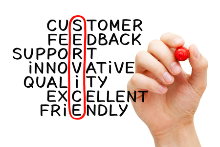 Handwritten Customer Service Business Concept