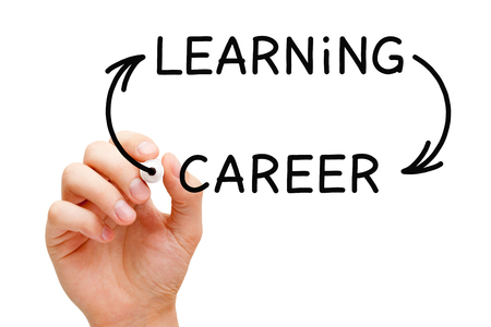 Learning Career Arrows Concept 版權商用圖片