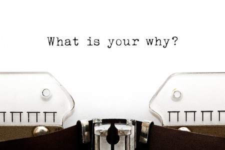 What Is Your Why Question Typewriter Stockfoto - 122319902