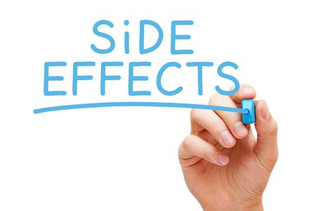 Side Effects Handwritten With Blue Marker 写真素材