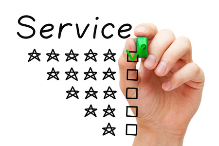 Customer Satisfaction Five Star Service Concept Stock Photo