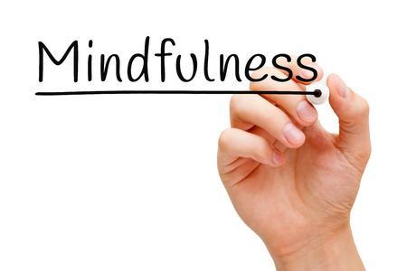 Word Mindfulness Handwritten With Black Marker