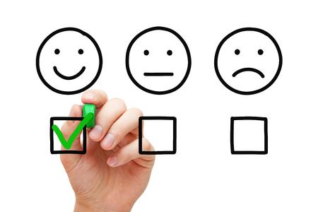 Happy Customer Feedback Survey Concept