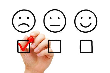 Negative Customer Feedback Survey Concept 写真素材