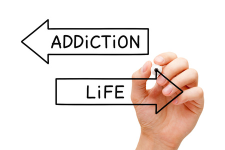Addiction Or Life Choice Arrows Concept