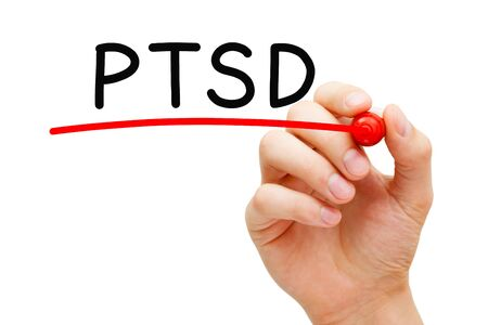 PTSD Post Traumatic Stress Disorder Banco de Imagens - 126160163