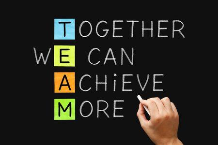 TEAM Together We Can Achieve More Banco de Imagens - 126160166