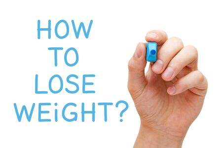 How To Lose Weight Handwritten Question Stock Photo