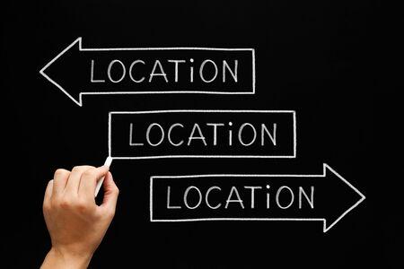 Location Importance Real Estate Arrows Concept Banco de Imagens - 128577005