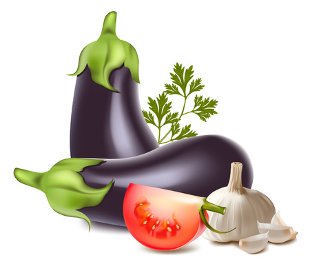 aubergine: Vektor-Illustration von Gem�se.