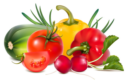 tinge:  Colorful fresh group of vegetables.