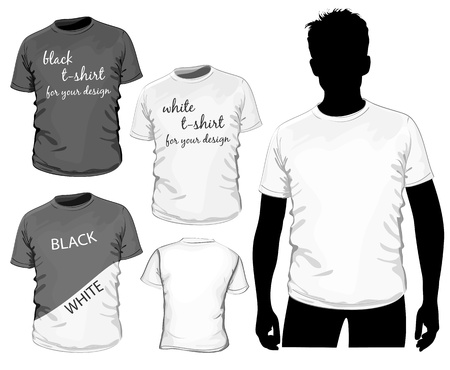short sleeve: t-shirt design template (no mesh) Illustration