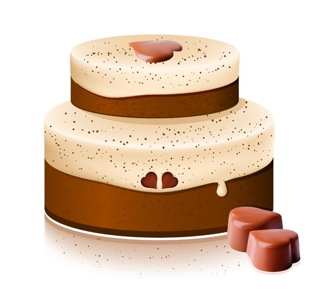 Vector cake with chocolate  Stock Vector - 10053337