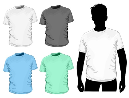 sleeve: Vector t-shirt design template.  Illustration