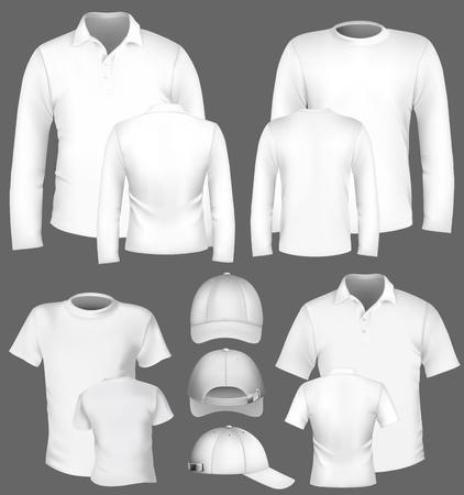 in shirt: Vector colecci�n de plantillas de dise�o de la camiseta y polo- Vectores