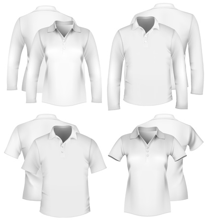 Vector. Mens and womens shirt design templates. Vector