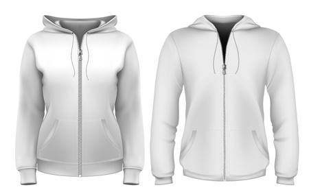 Sweatshirt ontwerpsjabloon (man & vrouw) Stock Illustratie