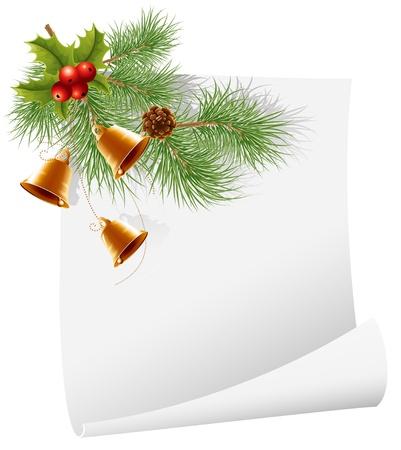 spruce: Vector. Fondo de su mensaje de Navidad. Vectores