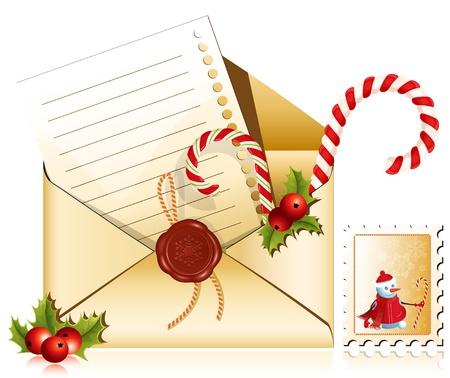Vector. Kerst e-mail. Brief aan de Kerstman.