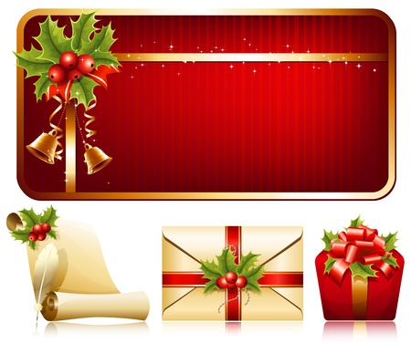 Vector christmas background. Christmas decoration. Illustration