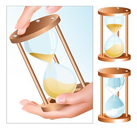 sand clock: Reloj de arena de vectores (reloj)