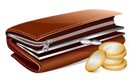 broke: Vector wallet and coins