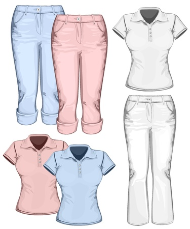 trousers: Women Illustration