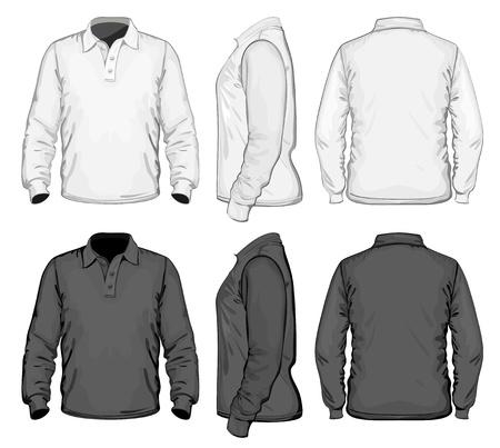shirt sleeves: Vector. Men Illustration