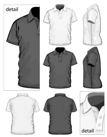 short sleeve: Vector. Men Illustration