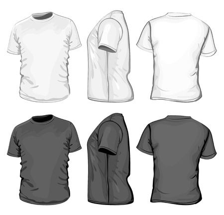 man t shirt: Vector. Men Illustration