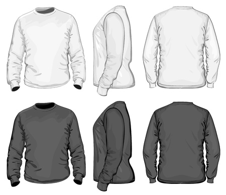 long sleeves: Vector. Men Illustration