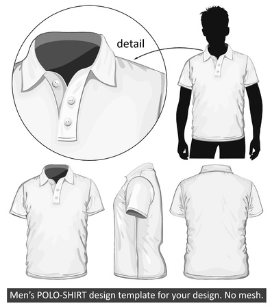 polo t shirt: Vector. Men Illustration