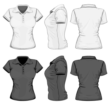 polo t shirt: Vector. Women Illustration