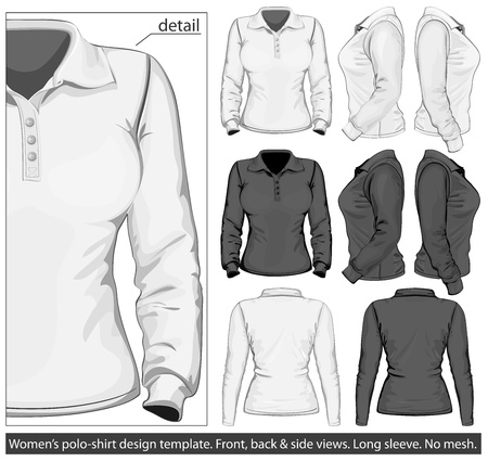 polo sport: Vector. Women Illustration