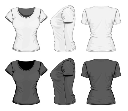shirt design: Vector. Women Illustration
