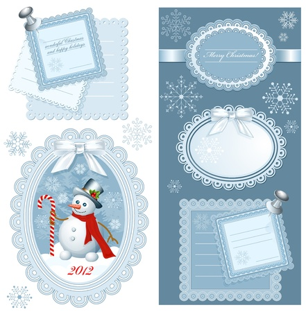 Set of Christmas frames with copy space. vector illustration Vector