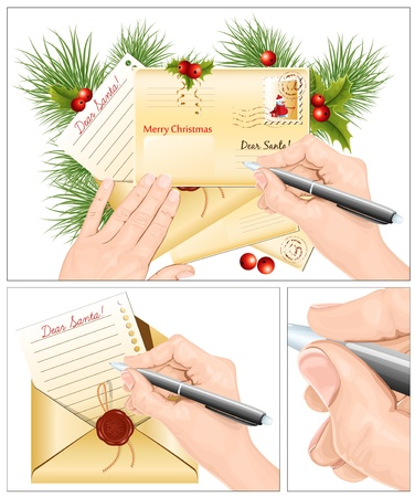 Letter to Santa Claus. vector illustration Vector