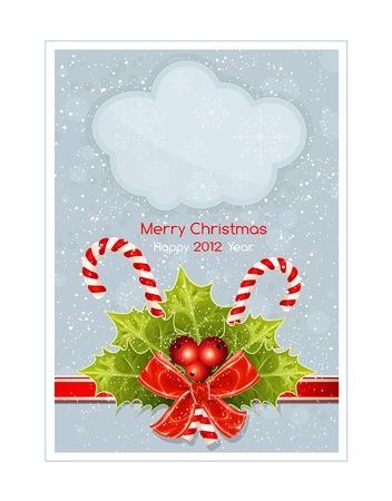 Christmas background with copy space. vector illustration Vector