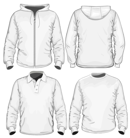long sleeves: Amazing vector set  Men