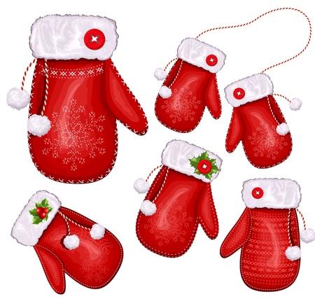 mittens: Christmas gift mittens