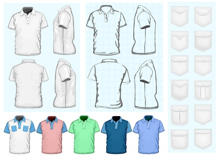 men s: Men s polo-shirt design template Illustration