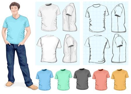 Men s t-shirt design template Vector