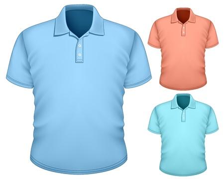 Mannen s polo-shirt design template