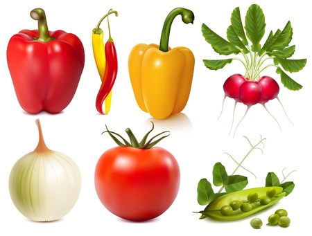 antioxidant: Collection of vector vegetables