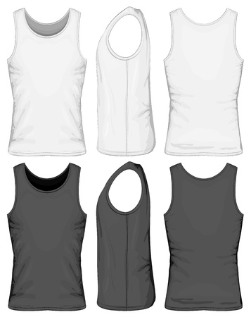 white singlet: Singlet Illustration